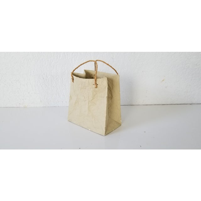 "Mid-Century Modern Tapio Wirkkala Style "" Paper Bag "" Ceramic Vase . For Sale - Image 3 of 11"