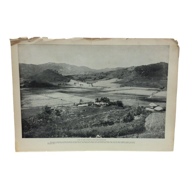 "Antique Our Islands and Their People Print, ""View in the Interior Near the Mountains"" - n.d. Thompson Co. -- 1899 For Sale"