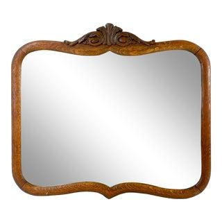 1800s Oak Wall Mirror For Sale