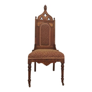 Throne (Bishop's) Walnut Chair For Sale