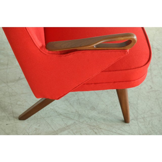 Svend Skipper Attributed 1950s Papa Bear Style Lounge Chair For Sale - Image 4 of 8