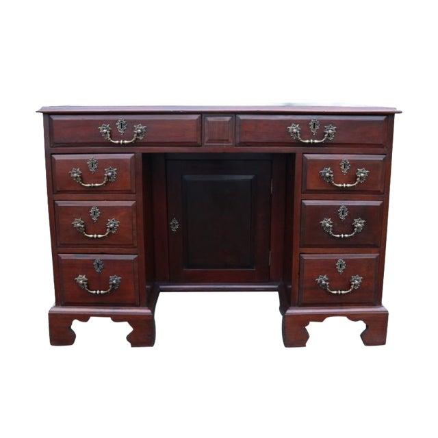 George III Mahogany Kneehole Desk - Image 1 of 11