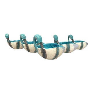 Aldo Londi for Bitossi Italian Ceramic Duck Bowls - Set of 5