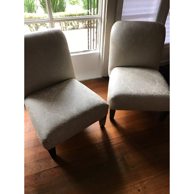 Cisco Home Armless Linen Slipper Chairs - A Pair - Image 5 of 6