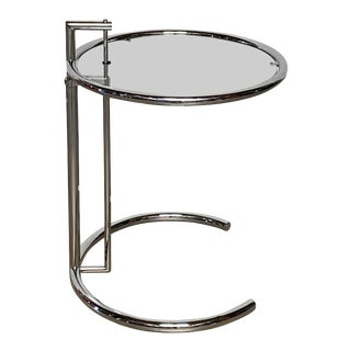 Dwr 'Adjustable Table E 1027' Side Table Designed by Eileen Gray For Sale