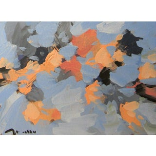 Jose Trujillo Impressionist Expressionism Floral Abstract Coa Acrylic Painting For Sale