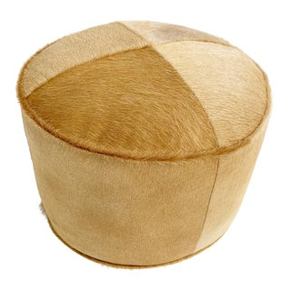 Palomino Cowhide Pouf Ottoman For Sale