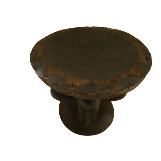 """Wood Superb African Baga Low Stool Guinea 12"""" H For Sale - Image 7 of 12"""