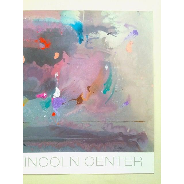 "Various Artists Helen Frankenthaler Rare Lmtd Edtn Original Hand Pulled Silkscreen Print "" Grey Fireworks "" 1982 For Sale - Image 4 of 13"