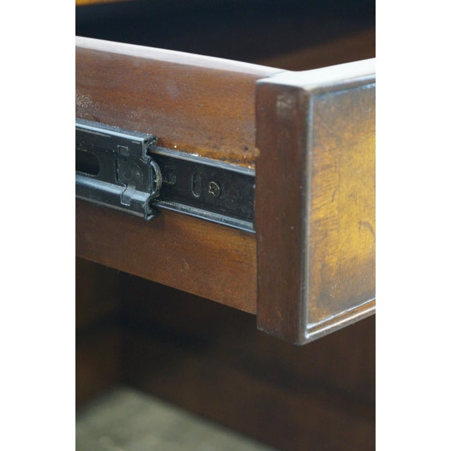 Lloyd Buxton Flame Mahogany Leather Top Executive Desk For Sale In Philadelphia - Image 6 of 10