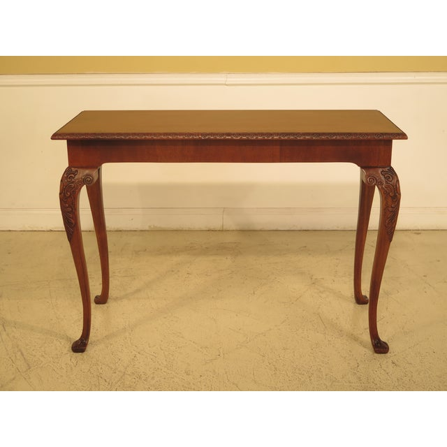 Wellington Hall Georgian Style Carved Mahogany Console Table - Image 11 of 11