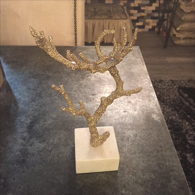 Pewter and Marble Tabletop Sculpture #2 - Image 2 of 4