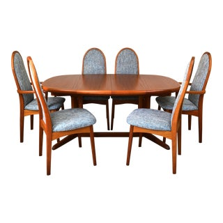 Vintage Scandinavian Benny Linden Teak Dining Set - 7 Pieces For Sale