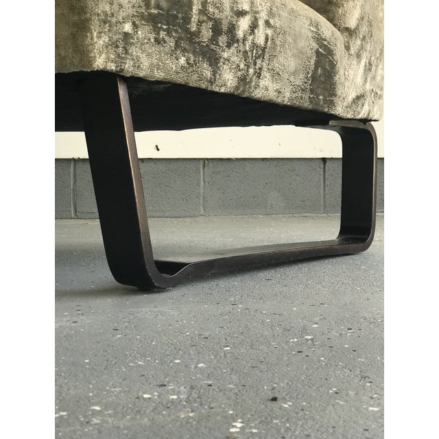 Edward Wormley for Dunbar Curved Settee For Sale In Philadelphia - Image 6 of 9