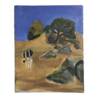 Acrylic Landscape Still Life Painting on Canvas For Sale