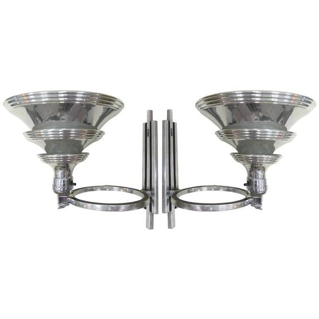 Art Deco Flip Sconces by Edward Kent for the Railley Corporation - A Pair For Sale - Image 11 of 11