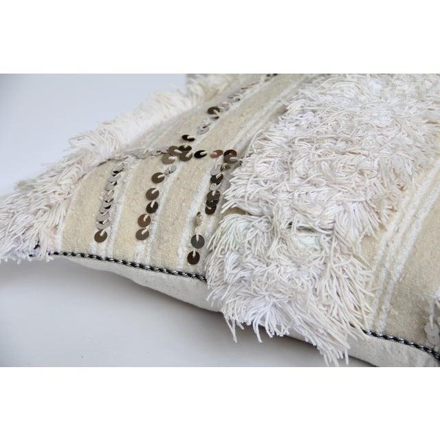 Vintage Moroccan Wedding Handira Pillow - Image 4 of 5
