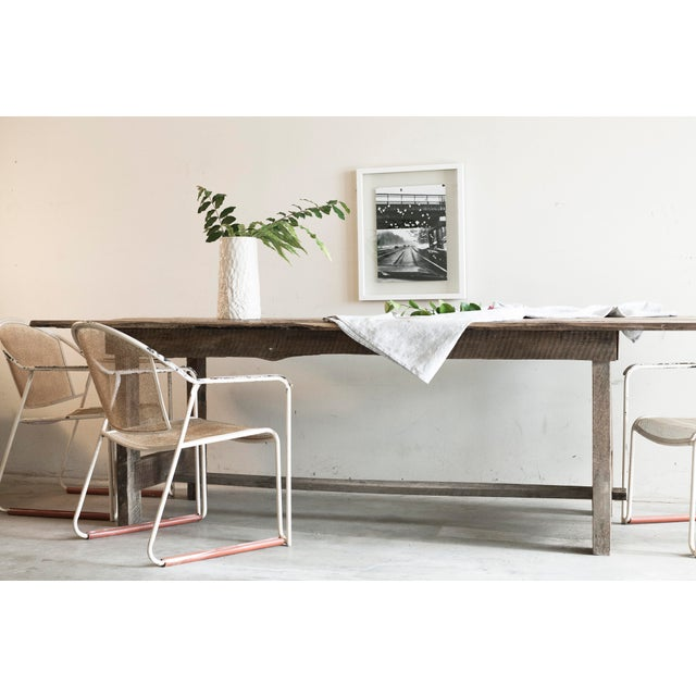 Wood Custom French Farmhouse Dining Table of Reclaimed Barn Wood. For Sale - Image 7 of 10