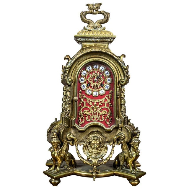 French Mantel Clock, circa 19th Century For Sale - Image 11 of 11