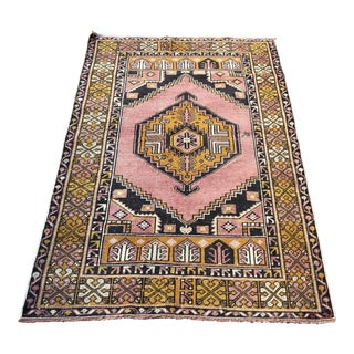 Home Decor Faded Turkish Rug - 3′7″ × 5′5″ For Sale