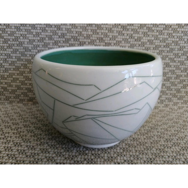 Daric Harvie Art Deco Cubist Style Bowl For Sale In Palm Springs - Image 6 of 9