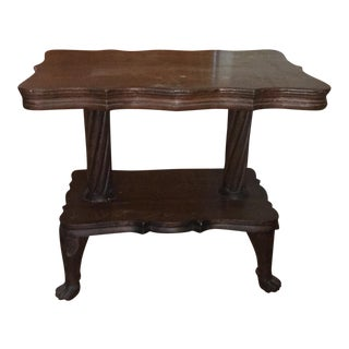Antique Claw Foot Table For Sale