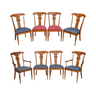 Ethan Allen Country Crossings Solid Maple Dining Chairs - Set of 8 For Sale