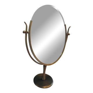 """Wishbone"" Dressing Mirror in Brass by Charles Hollis Jones For Sale"