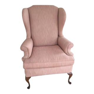 Rose Pink Queen Anne Chair