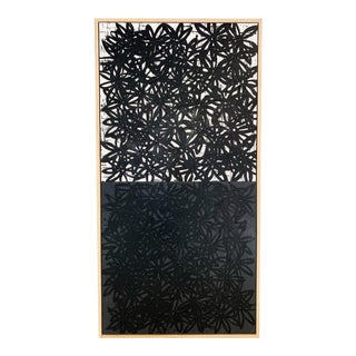 """John O'Hara """"Daisies, White and Black"""" Encaustic Painting For Sale"""
