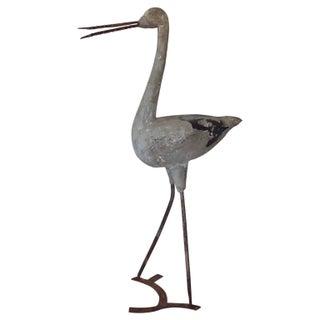 English Cast Stone Heron Garden Folly Ornament For Sale