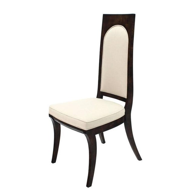 White Set of Six Mid-Century Modern Mastercraft Dining Chairs With New Upholstery For Sale - Image 8 of 10