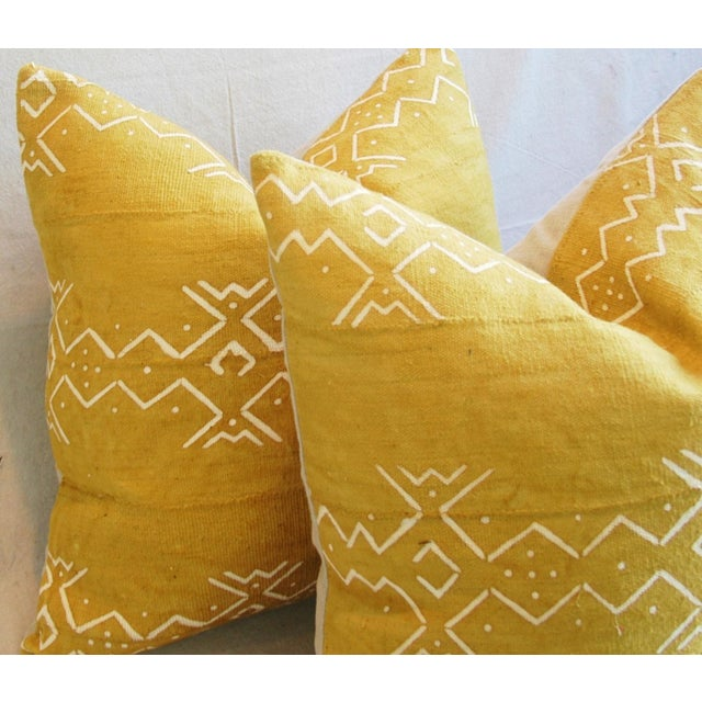 Handwoven Tribal Textile Feather/Down Pillows - Pair - Image 7 of 11