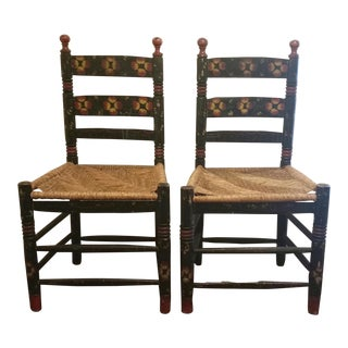 20th Century Rustic Mexican Farmhouse Chairs - a Pair For Sale