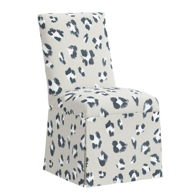 Gray Slipcover Dining Chair in Brush Cheetah Ivory For Sale - Image 8 of 8