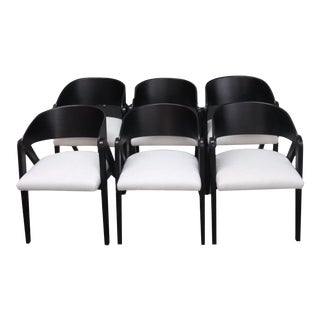 1950s Vintage Allan Gould 4171 Compass Chairs- Set of 6 For Sale
