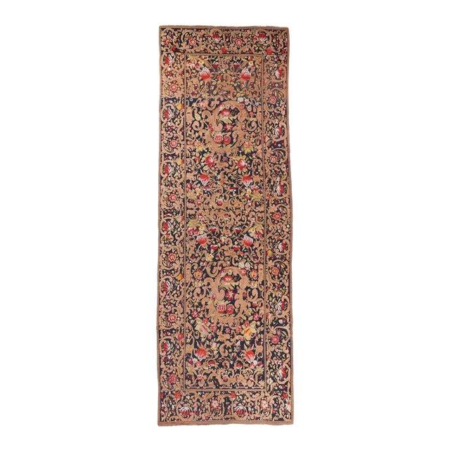 Black Ground Oversized Karabagh Long Rug For Sale