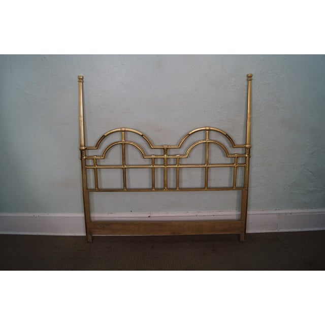 Mid-Century Gold Painted Metal Queen Headboard - Image 4 of 10