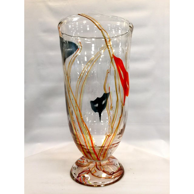 Murano Glass Vase by Elio Raffaeli Carnaval For Sale - Image 9 of 9