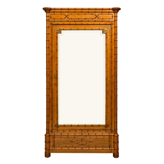 French Antique Bamboo Bonnetiere For Sale - Image 10 of 10