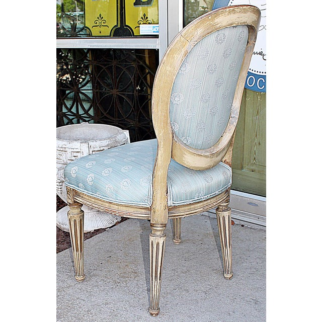 Wood Antique Petite Louis-XVI Type French Chairs - a Pair For Sale - Image 7 of 9