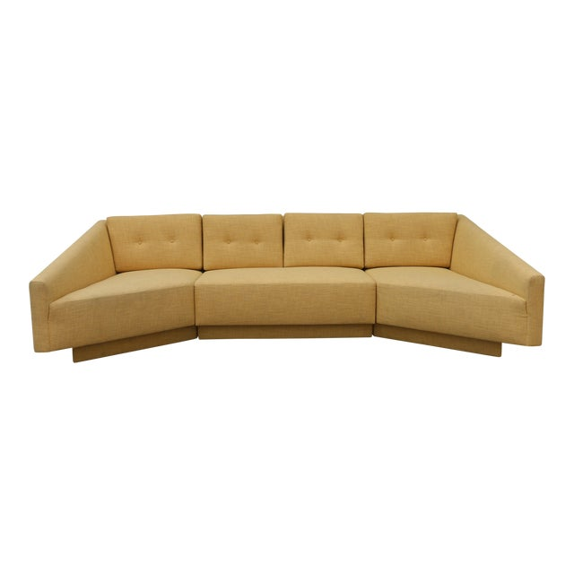 Yellow Sectional Sofa - Image 1 of 11