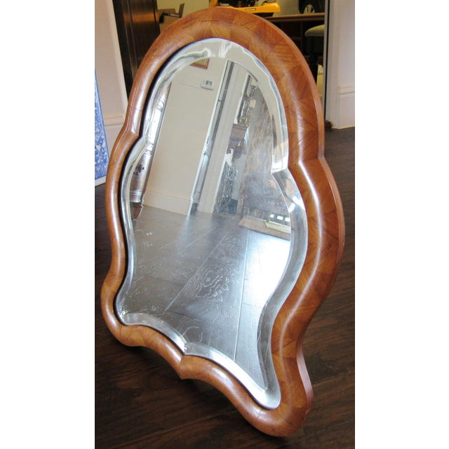 Antique Wood Framed Tabletop Mirror For Image 4 Of 5