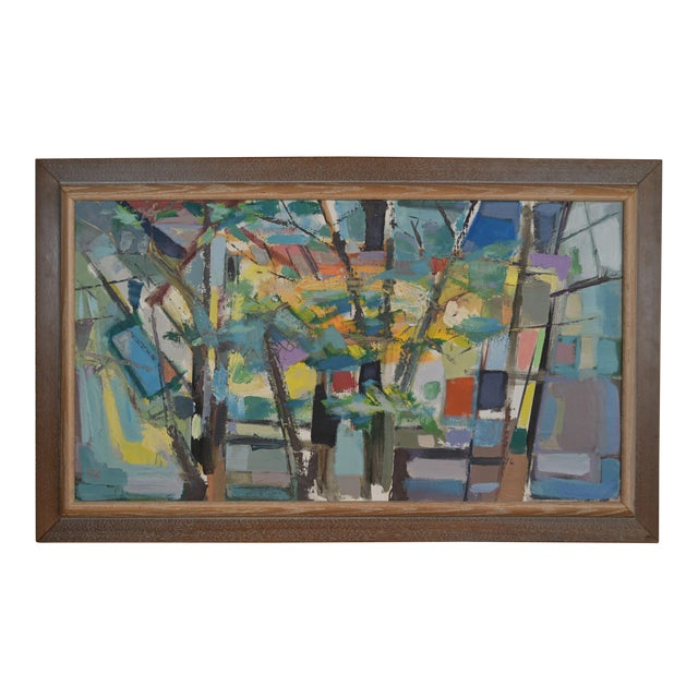 Mid 20th Century Abstract Expressionist Painting by Armando Del Cimmuto For Sale
