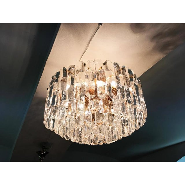Large Palazzo Frosted Glass Chandelier by JT Kalmar, 1970s For Sale - Image 10 of 11