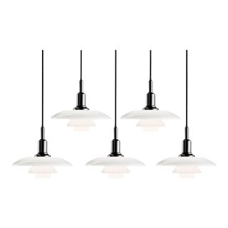 Poul Henningsen PH 3/2 Glass Pendants for Louis Poulsen