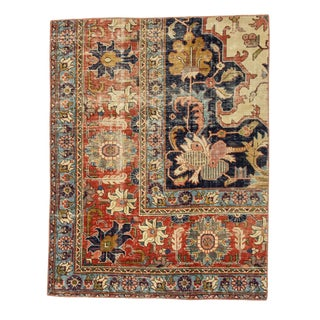 1960s Vintage Small Rug- 2′11″ × 3′9″ For Sale
