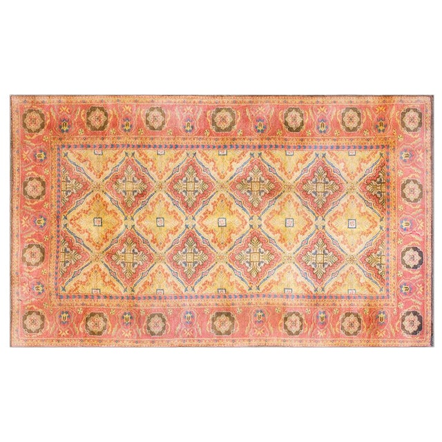 Vintage 1920s Indian Cotton Agra Rug - 4'x7' For Sale