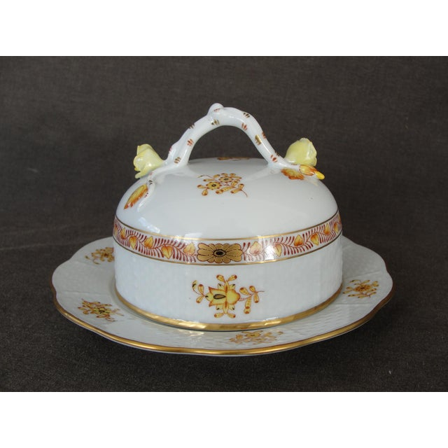 Herend Chinese Floral Butter Dish - Image 6 of 11
