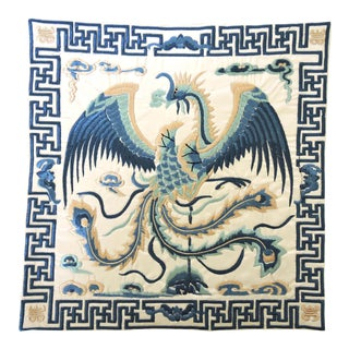 Rising Blue Pheonix Lamp Mat